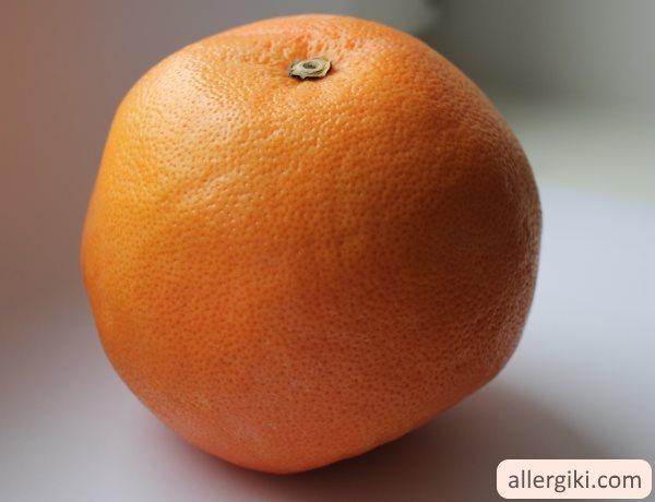 Аллергия на цитрусовые.