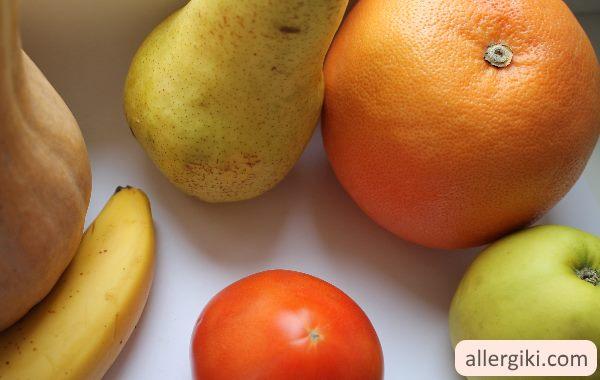 Продукты, которые могут вызвать аллергию.